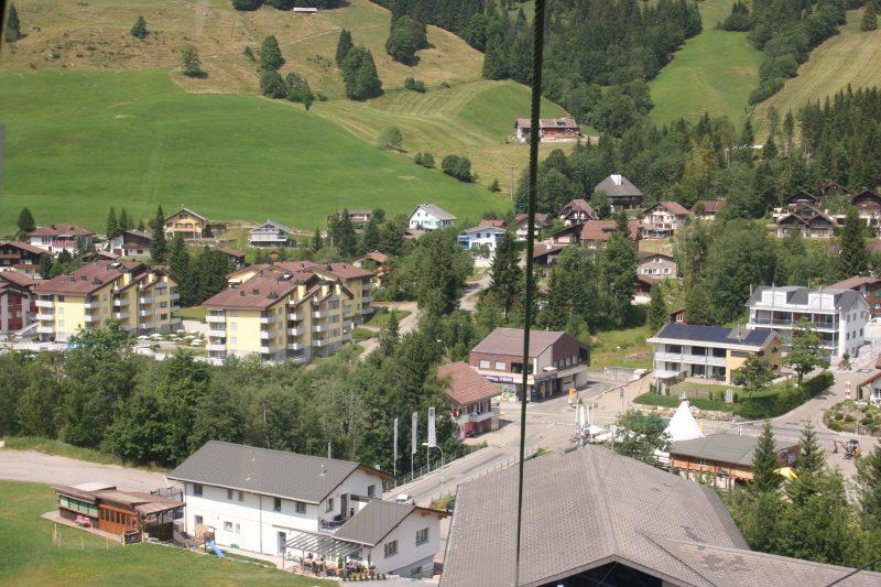 Blick aus der Gondel nach Sörenberg